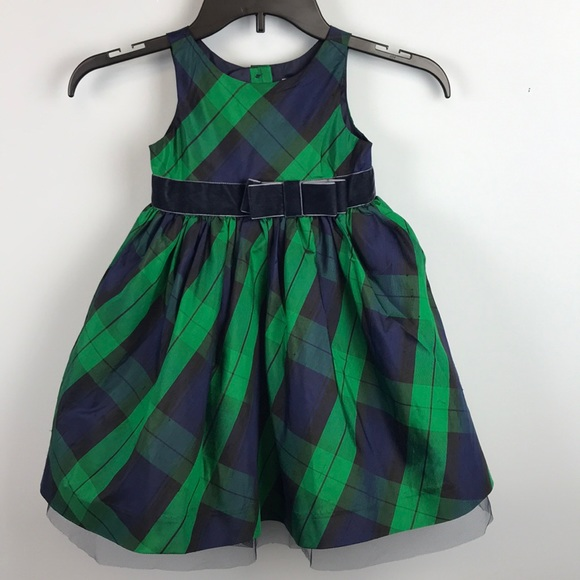 Size 3T ~NWT~2 available Janie and Jack Red Plaid Holiday Photo 100/% silk Dress